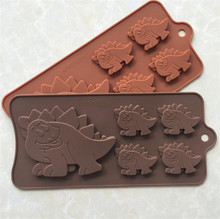 food grande animal shaped 5 dinosaur silicone chocolate moulds china