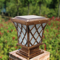 Outdoor Led Wireless Garden Light Post Caps Solar Light