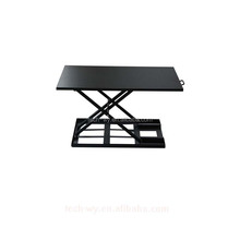 Good service long warranty black steel tube frame computer desk