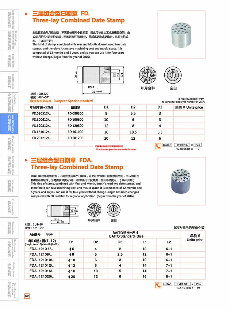 Dme standard Precision dual-ring mold dating insert