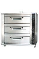 Commercial bakery deck oven for gas