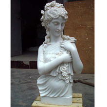 Hand Carved Female Marble Busts