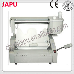 hand operated mini office book cover binding machines