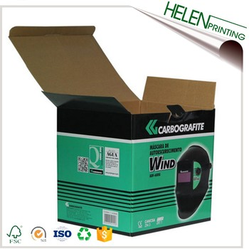 Custom corrugated small cardboard box packaging for helmet