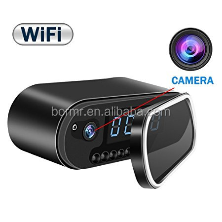 2019 New Wi-Fi Camera Alarm Clock HD Live Video Recording Camera Wireless IP Security Camera