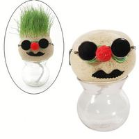 desktop gift 100cm doll grass head craft doll faces vagina masturbation doll