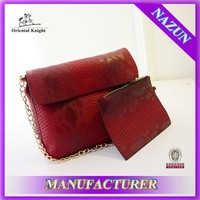Wholesale snake skin leather shoulder bag, custom snake skin leather shoulder bag for sale