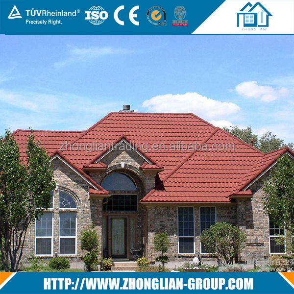 Traditional chinese house building materials composite slate red clay stone roof tiles