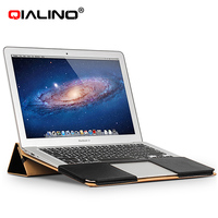 QIALINO Leather bags handbag laptop case for macbook air 13 inch