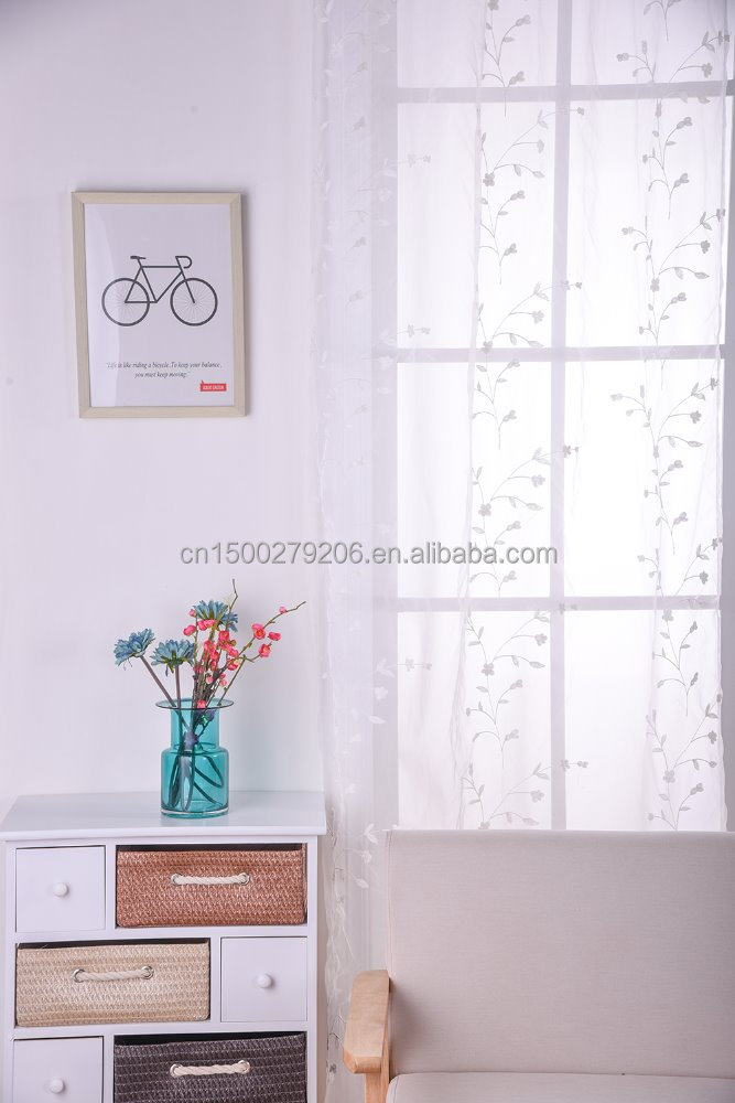 Polyester embroidery/velvet Material and Home,Hospital,Hotel,Office,Cafe Use embroidered window curtains for living room