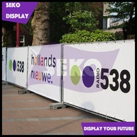 Bright color printing vinyl fence banner for outdoor promotion