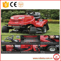 Self- propelled zero turn riding lawn mower/hay cutter with adjustable cutting height