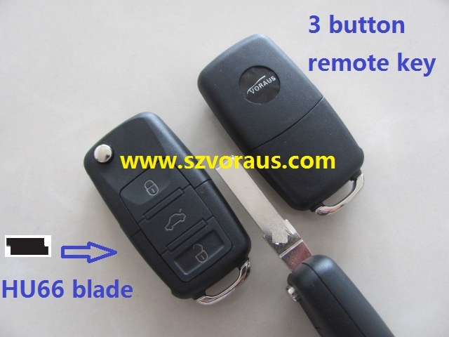 For VW 3 button flip remote key 433 mhz 48 CAN chip fit for VW passat 2003 year