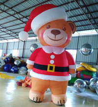 cute inflatable bear for christmas decoration