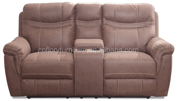 home theater 2seat recliner sofa with console