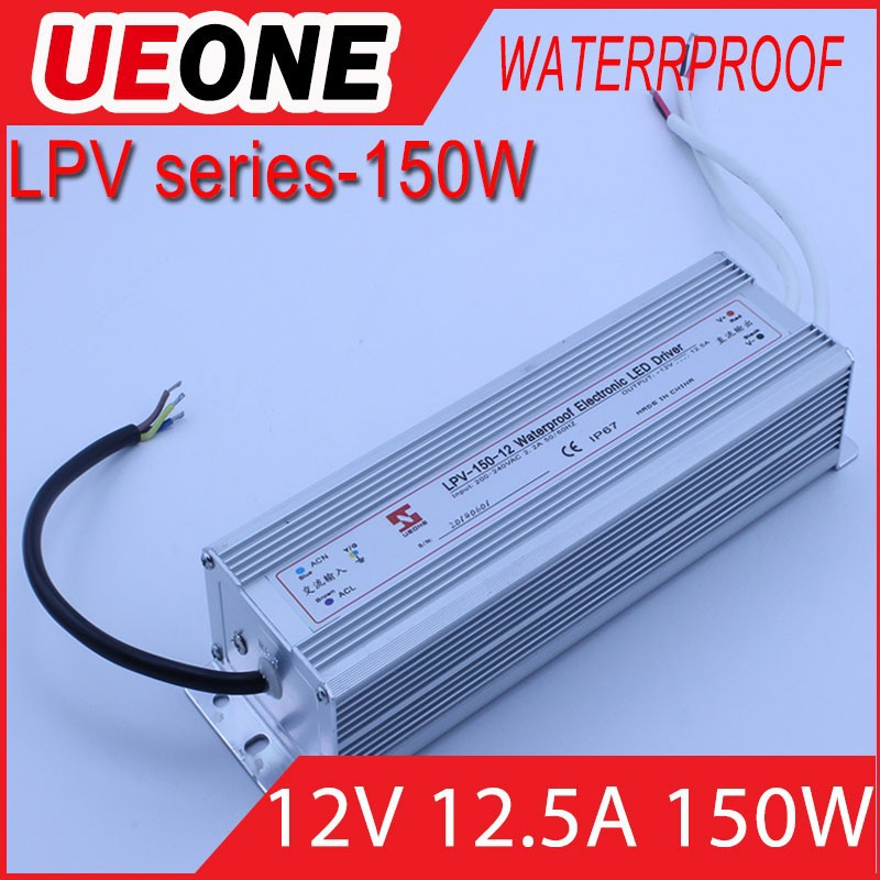 Wasserdicht Transformator LED Trafo IP67 DC 12V 150W waterproof switching power supply Led lampe TOP