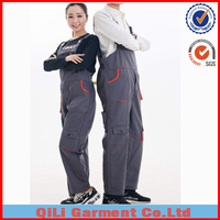 Mechanic adults breathable TC polyester cotton overall and uniform gallus overall