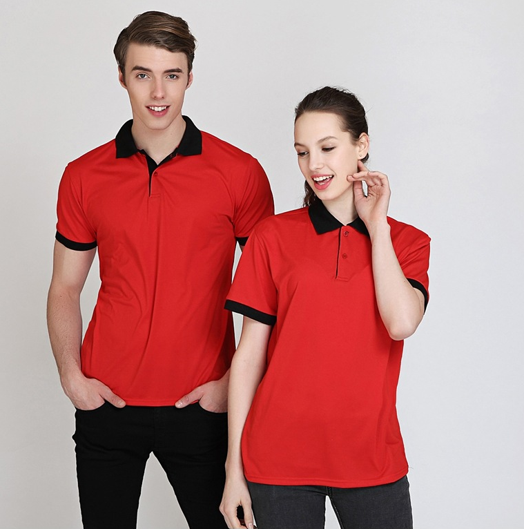 Wholesale Cheap Two Tone Color Polyester Mens Custom Logo Golf Shirts