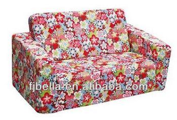 Nice Design Kids Foam Sofa Flip Open Bed Couch