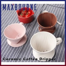 Wholesale filter cone pour over coffee cone ceramic coffee dripper