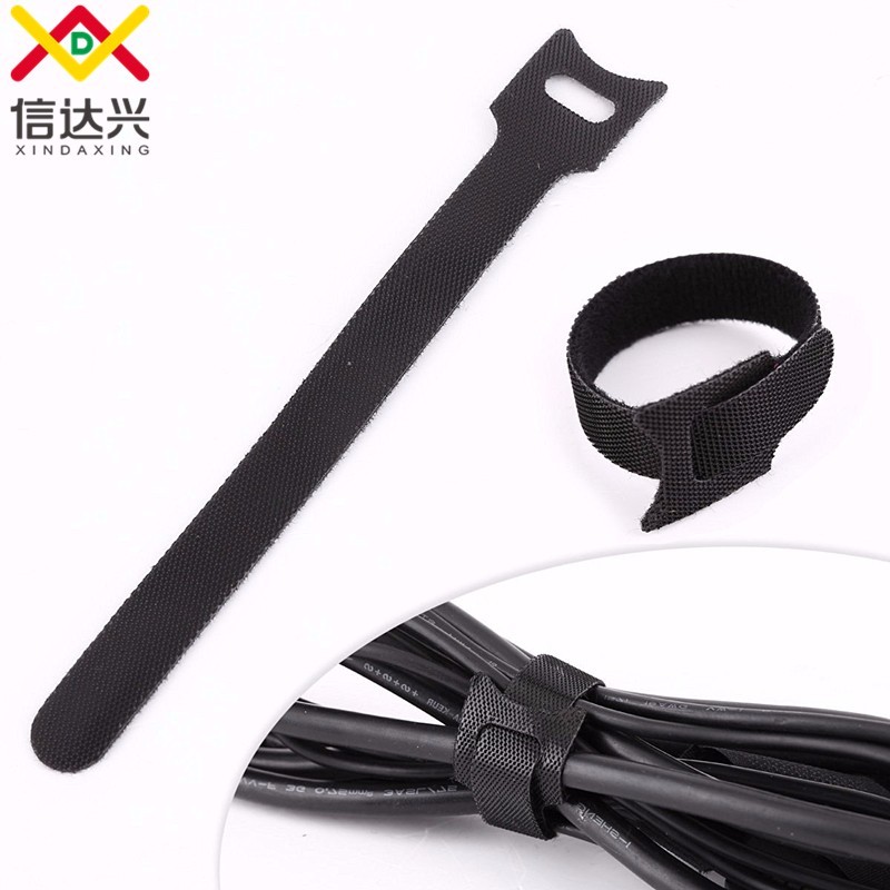Precut small hook & loop adjustable cable ties for all purpose
