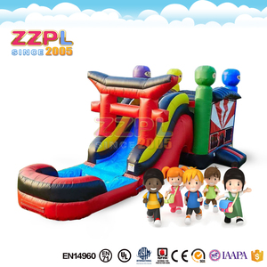 ZZPL Hot sale inflatable bouncer Water fun inflatable jumping castle combo Playcenter inflatable bounce house with water slide