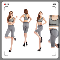 2015 seamless ladies sexy fancy sports bra panty set