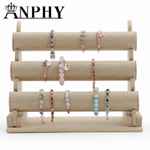ANPHY A253 3-Tier Velvet Watch Bangle Bracelet Jewelry Display Holder Stand Rack