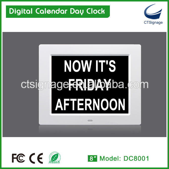 8 inch digital memory loss clock for old people