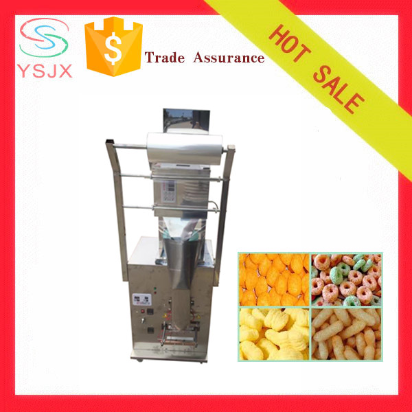 automatic large dose Corn puffs Plantain chips packing machine