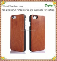 Top quality New arrival unfinished wood case for iphone 5/5s 6 6s plus