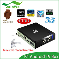 K1 Amlogic S805 Quoad Core Android 4.4.2 KODI 14.2 Support most external 3G USB dongle In Stock