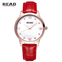 Read 21575 Luxury Brand Top Women Watches 3ATM Leather Quartz Watch Ladies Simple Fashion Casual Business Watch