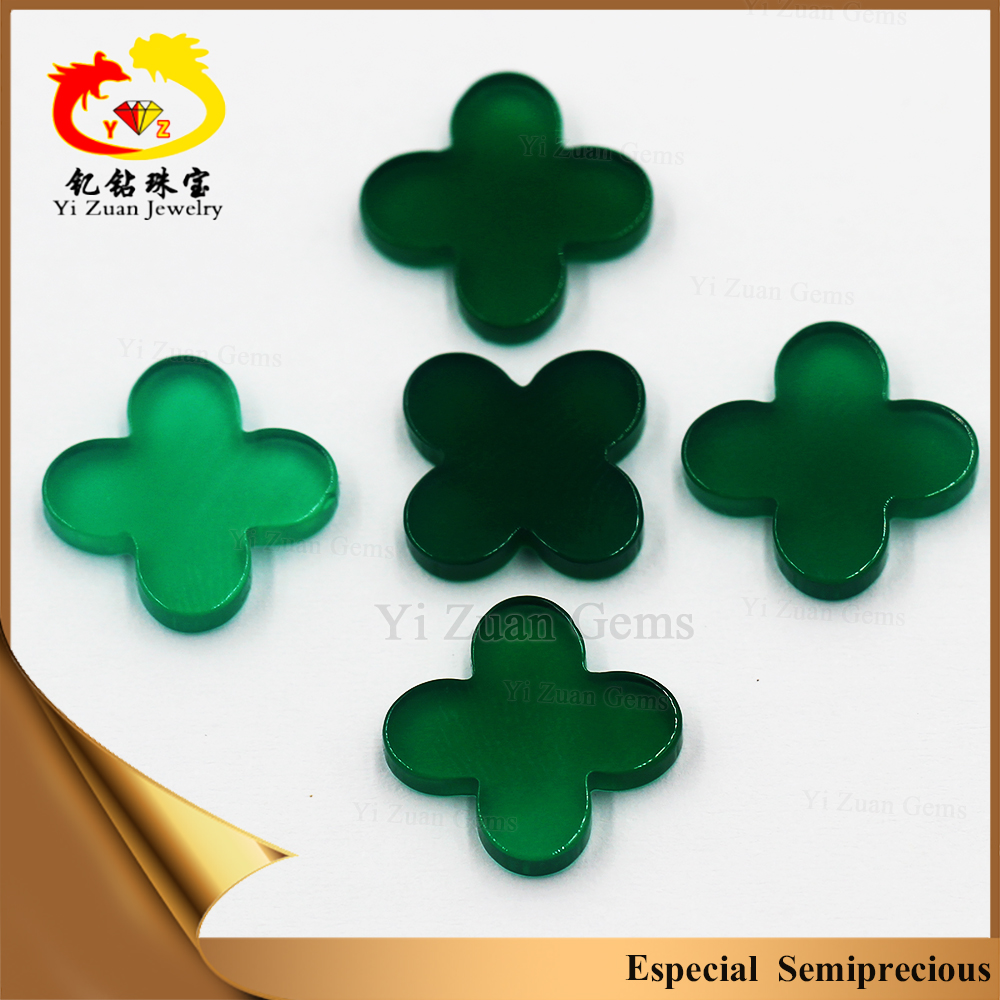 four leaf clover delicate symbol of good luck fashion jewelry green onyx stones