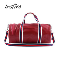 Unisex round travel bag outdoor sports duffel bag large capacity 21L