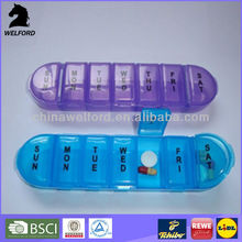Vitamins Supplements Holder Container Dispenser Weekly Pill Box