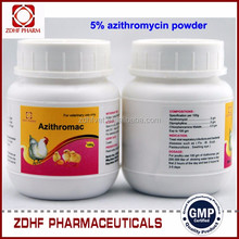 Antibiotic drug azithromycin veterinary medicine for cattle