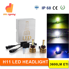 Christmas Promotion best price H11 led headlamp 3000K 6000K 10000K 3colors optional