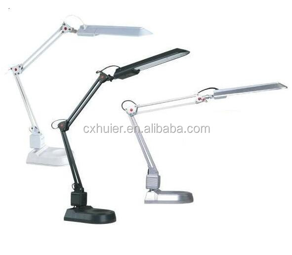 G23 PL-11W Traditional Swing Arm Desk Lamp with Long Slim Shade
