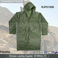 Olive Green Military Poncho Tactical Army Raincoat