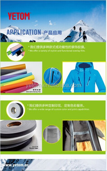 3-layer cloth seam sealing tape for Military waterproof garments