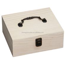 china factory FSC custom locked lid empty pine wooden jewelry storage gift packing box for medal