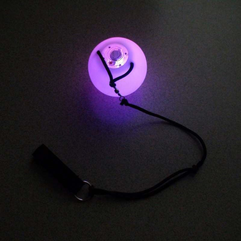 Color Changing Soft PVC Spinballs led mini crystal ball