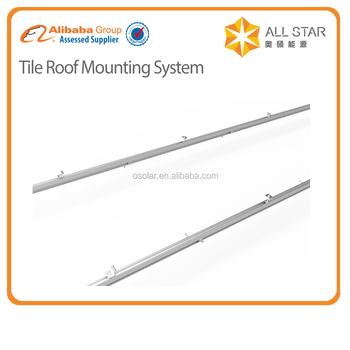 Solar Mid Clamp, End Clamp, solar mounting rail system | solar mounting