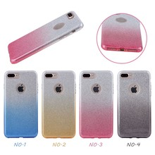 PP TPU case for iphone 7,gradient glitter fashion cover case for the iphone 7