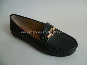 moccasin shoes black 2018 new design flat for women