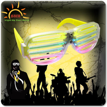 Flashing LED rave party New Products 2016 Hot Sale DropShades Sound Reactive Light Up LED Rave Glasses