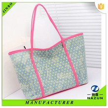 Chinese low price factory star design female canvas tote bag