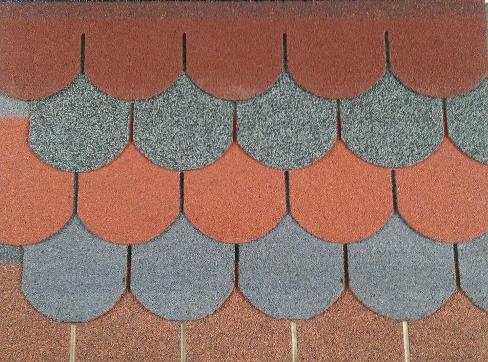 Wholesale round fiberglass asphalt roofing shingles, cheap asphalt shingle roof with high quality