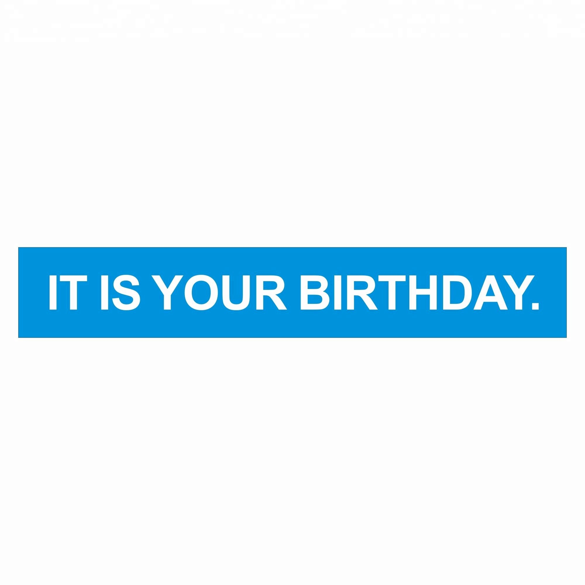 Vinyl W <strong>Resistant</strong> Hanging Ring IT IS YOUR BIRTHDAY Banner